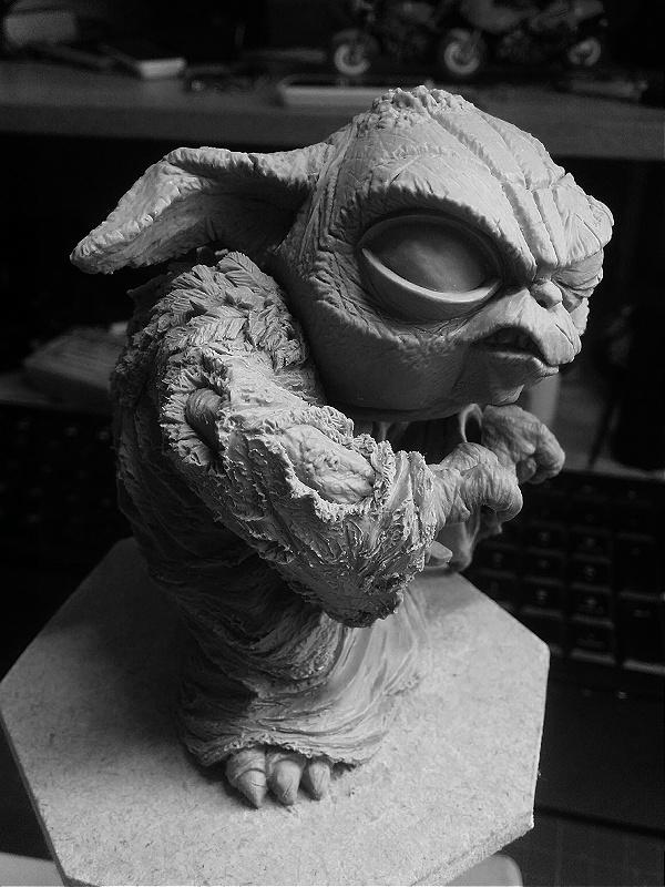 Sculpture de Yoda YoDark_62